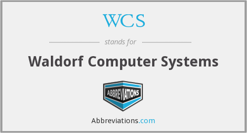 What does WCS stand for?