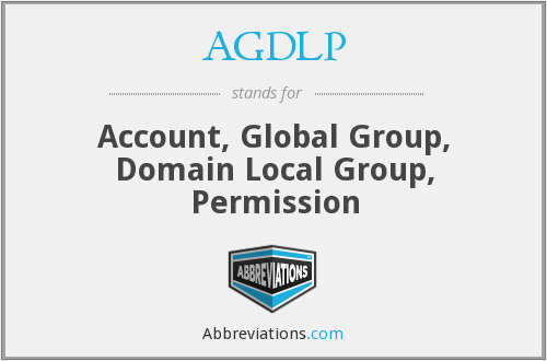 What does AGDLP stand for?