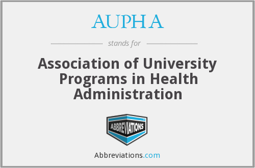 What does AUPHA stand for?