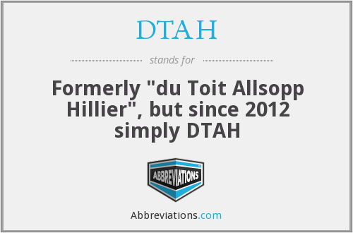 What does DTAH stand for?