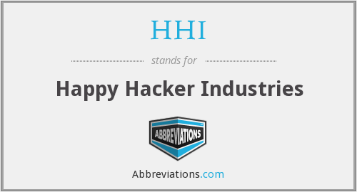 What does HHI stand for?