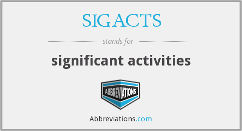 What does SIGACTS stand for?