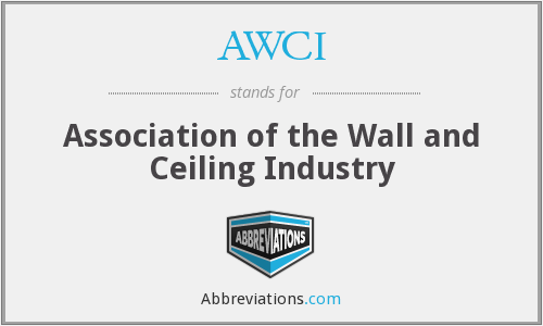 What does AWCI stand for?