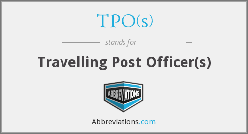 What does TPO(S) stand for?