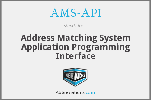 What does AMS-API stand for?