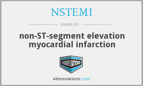 What does NSTEMI stand for?