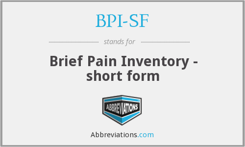 What does BPI-SF stand for?