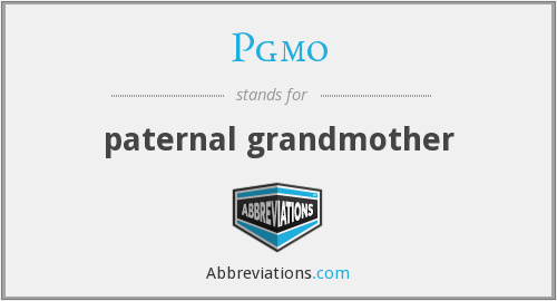 What does PGMO stand for?