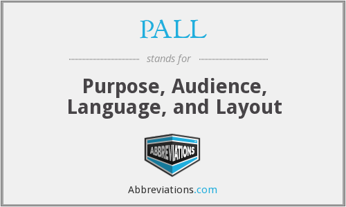 What does PALL stand for?