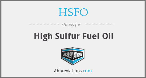 What does HSFO stand for?