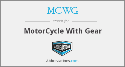 What does MCWG stand for?