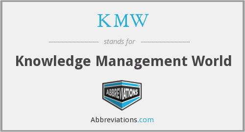 What does KMW stand for?