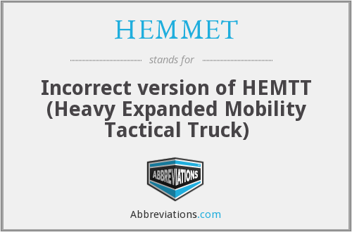 What does HEMMET stand for?