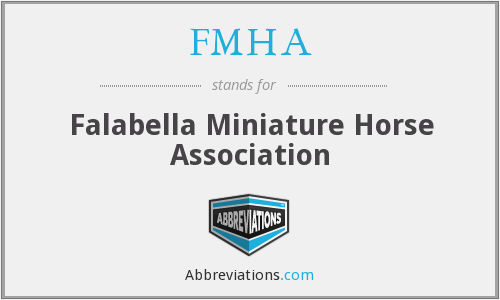 What does FMHA stand for?
