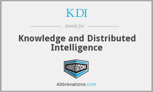 What does KDI stand for?
