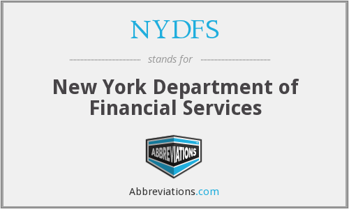 What does NYDFS stand for?