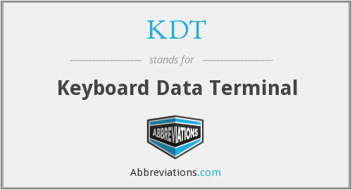 What does KDT stand for?