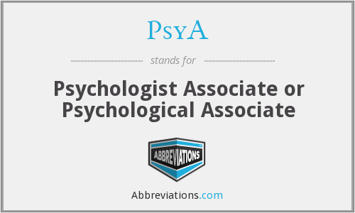 What does PSYA stand for?