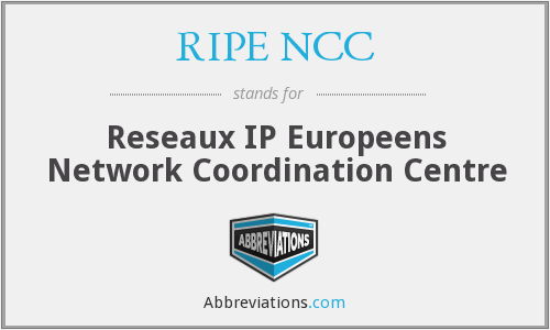 What does RIPE NCC stand for?