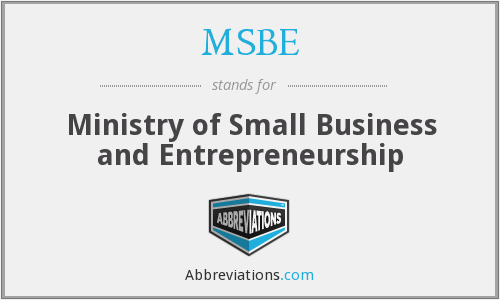 What does MSBE stand for?