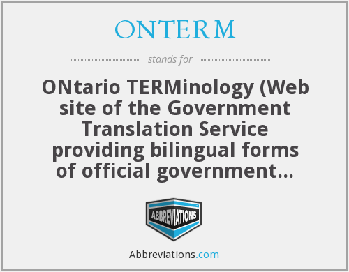 What does ONTERM stand for?