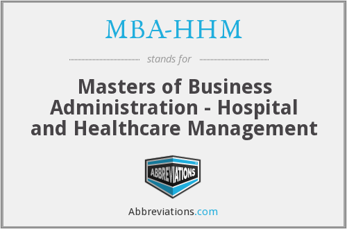 What does MBA-HHM stand for?