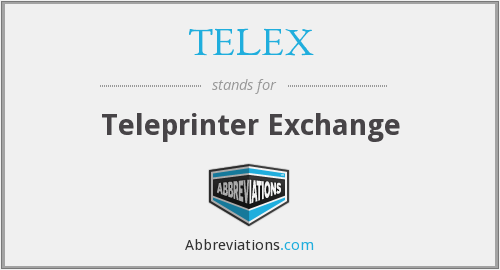 What does TELEX stand for?