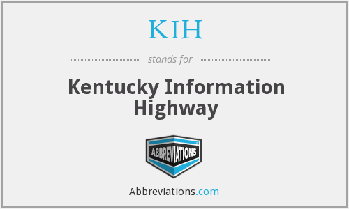 What does KIH stand for?