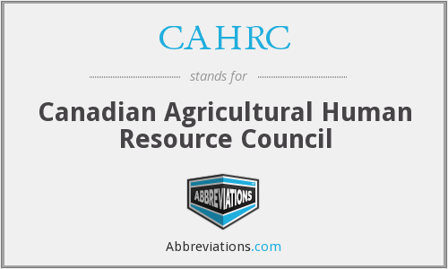 What does CAHRC stand for?