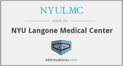 What does NYULMC stand for?