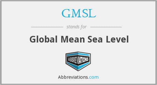 What does GMSL stand for?