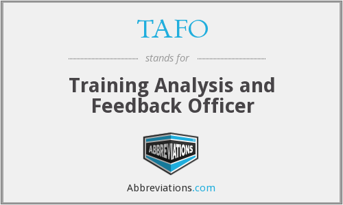 What does TAFO stand for?