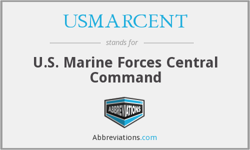 What does USMARCENT stand for?