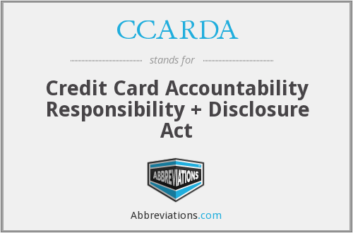 What does CCARDA stand for?