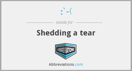 What does tear stand for?