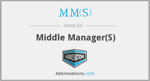 What does MM(S) stand for?