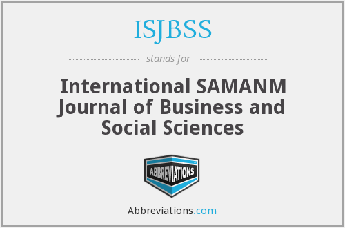 What does ISJBSS stand for?