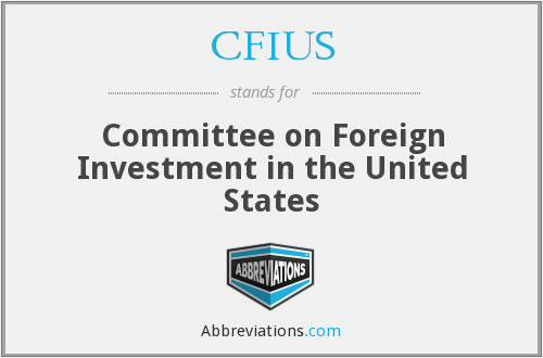 What does CFIUS stand for?