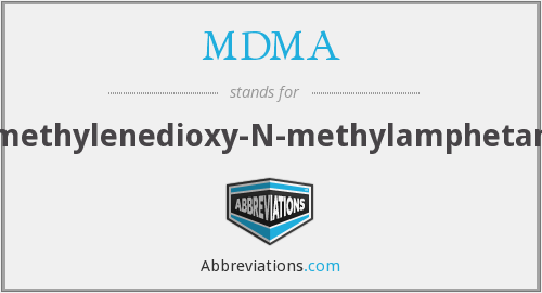What does MDMA stand for?