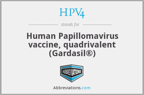 What does HPV4 stand for?