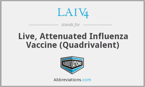 What does LAIV4 stand for?