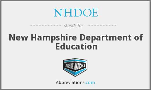 What does NHDOE stand for?
