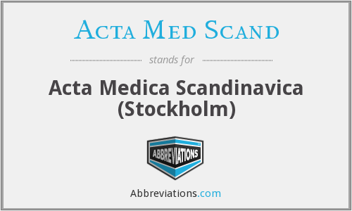 What does ACTA MED SCAND stand for?