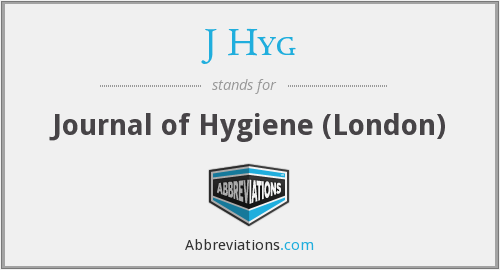 What does J HYG stand for?