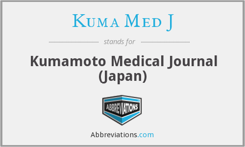 What does KUMA MED J stand for?
