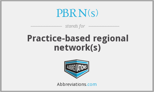What does PBRN(S) stand for?