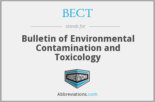 What does BULLETIN ENVIRON CONTAM stand for?