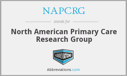 What does NAPCRG stand for?