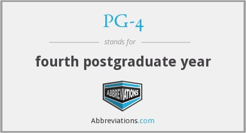 What does PG-4 stand for?