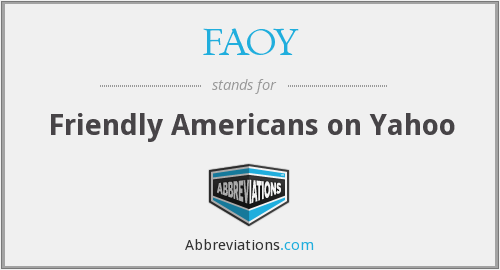 What does FAOY stand for?